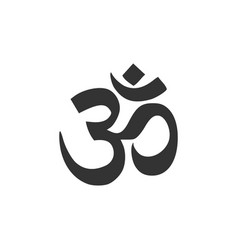 Om or aum indian sacred sound icon isolated vector