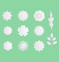 paper flowers white paper origami flowers vector image