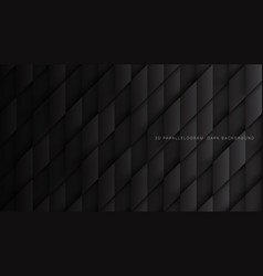 Parallelogram blocks conceptual tech 3d dark gray vector