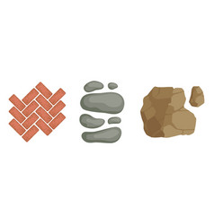 Pebbles and block for pavement and garden walkway vector