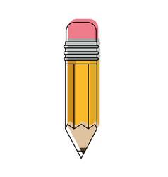 pencil design tool in watercolor silhouette vector image