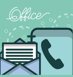 phone book and email letter paper office vector image