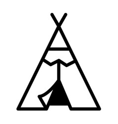 Red indian tent solid vector