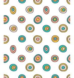 Retro seamless pattern geometric background Polka vector image