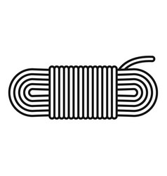 Rope icon outline style vector