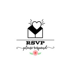 Rsvp badge lettering invitation for the vector