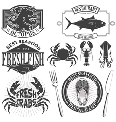 Seafood bar vector