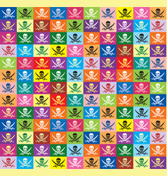 seamless background from multicolor flags jolly vector image