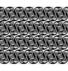 Seamless pattern black and white repeating vector
