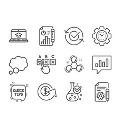 Set education icons such as analytical chat vector