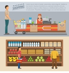 Shopping colored concepts vector