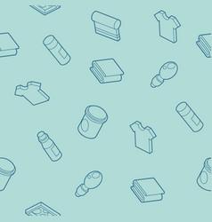 Silkskreen outline isometric pattern vector