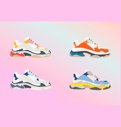 sneaker shoe consept fashion flat design vector image