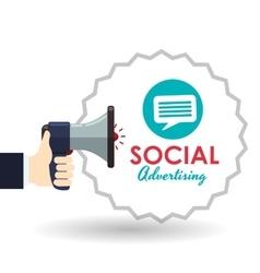 Social Advertising design Media icon White vector