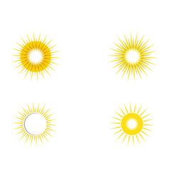 Sun ilustration logo icon template vector