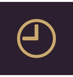 The time icon Clock sound symbol Flat vector image