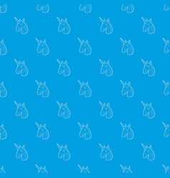 unicorn pattern seamless blue vector image