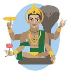 Vishnu deity vector image