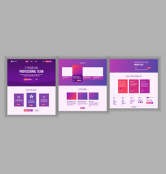 website template page business landing vector image
