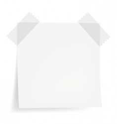White note papers vector