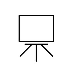 whiteboard outline icon vector image
