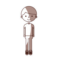 young boy avatar character vector image