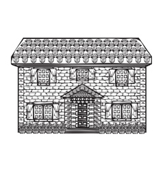 Drawing houses sketch vector image