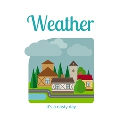 Nasty weather in the town vector image