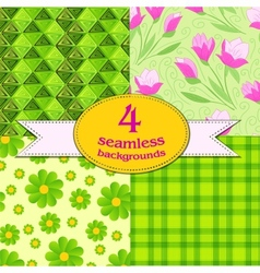 spring seamless backgrounds vector image vector image