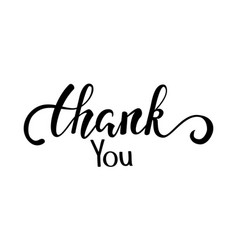 thank you and happy thanksgiving hand drawn vector image
