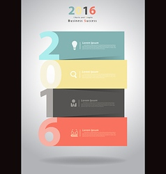 2016 New Year layout template design vector image vector image