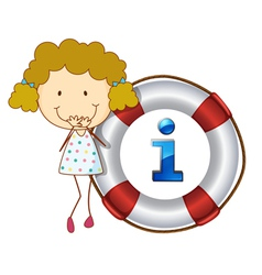 Girl Information Kiosk Sign vector image