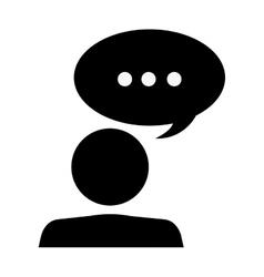 person pictogram talking icon vector image