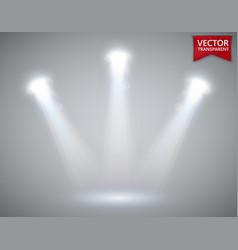 spotlights scene transparent light effects stage vector image