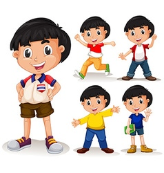 Boy with black hair vector image