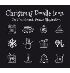 Christmas Drawn vector image vector image