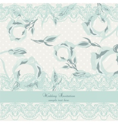 Delicate Lace and Roses Vintage card vector image vector image