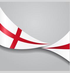 english wavy flag vector image vector image