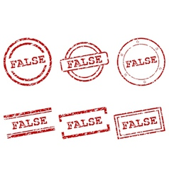 False stamps vector image