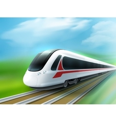 High-speed Day Train Realistic Image vector image