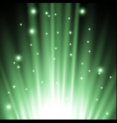 light flare from below green color vector image vector image