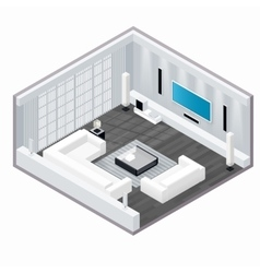 Living room isometric set vector image