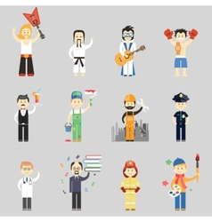 Set of characters in different professions vector image vector image