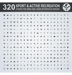Sport and active recreation icon set vector image