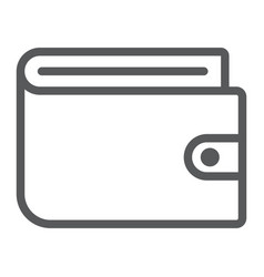 wallet line icon e commerce and marketing vector image vector image