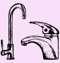water tap vector image vector image
