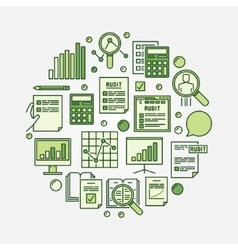 Financial audit circular vector
