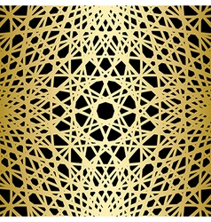 Gold knitted lines on black background vector