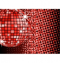 mirror ball disco vector image