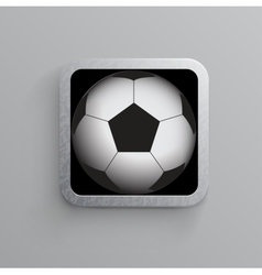 soccer and sports app icon for mobile devices vector image vector image